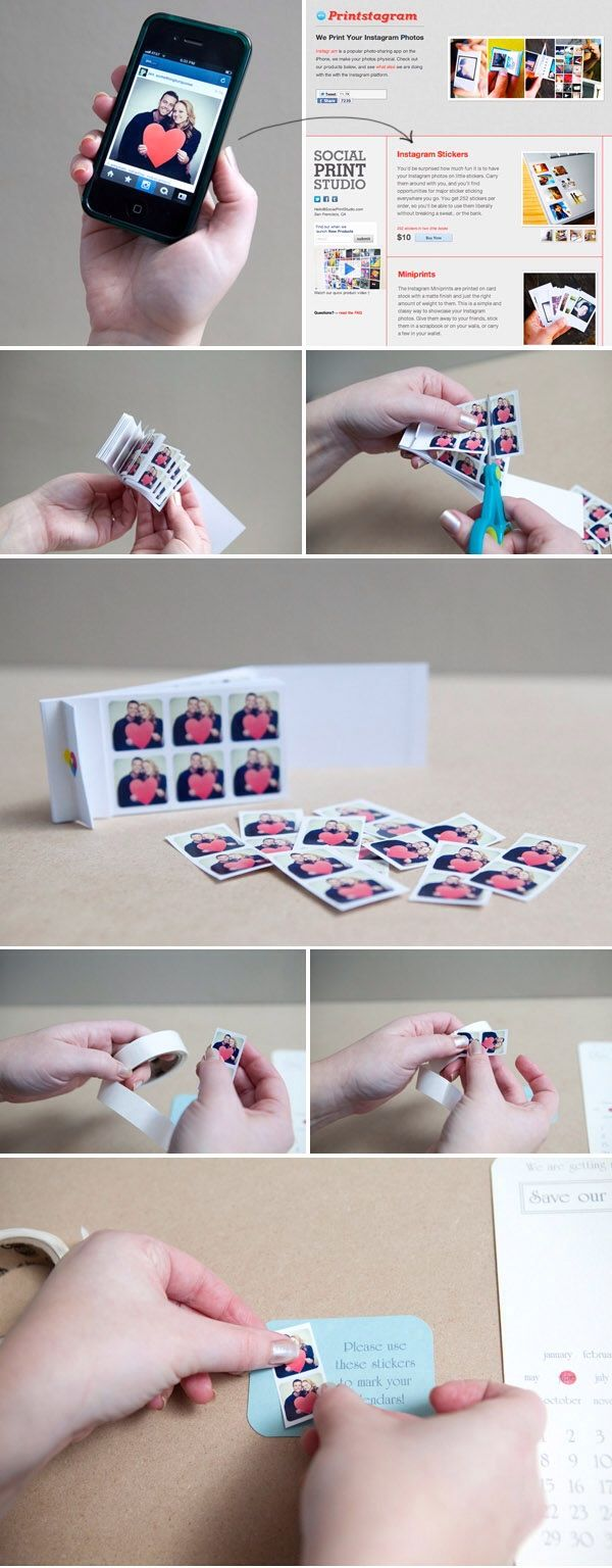 Save The Date: Instagram Stickers... Love this idea!!