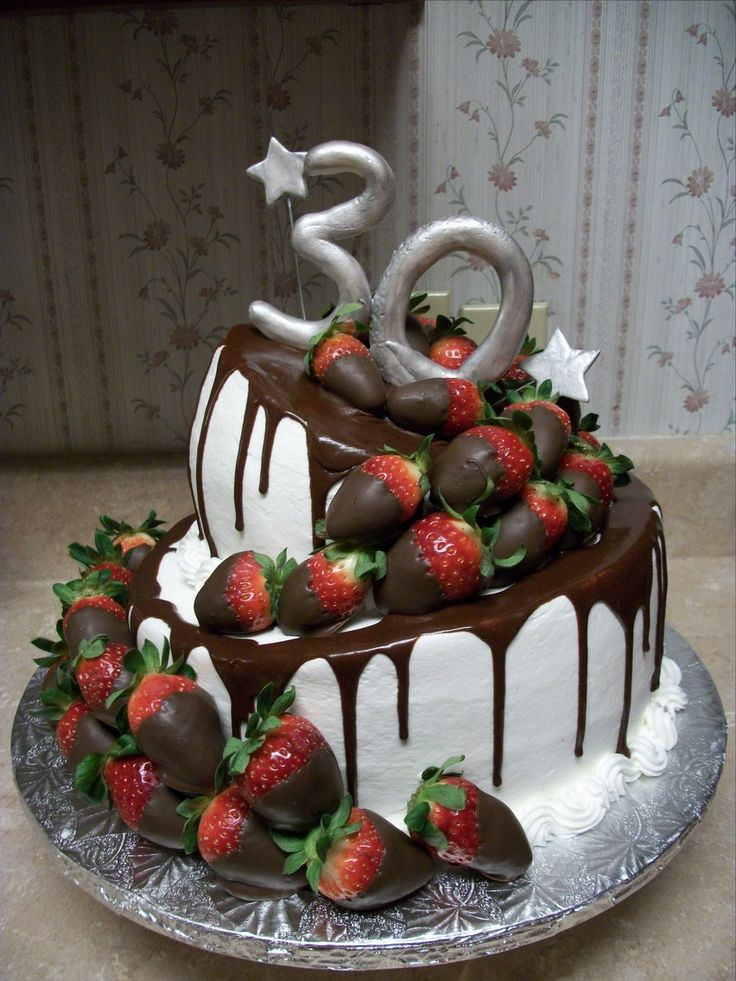 Wonky Cake With Strawberries  on Cake Central