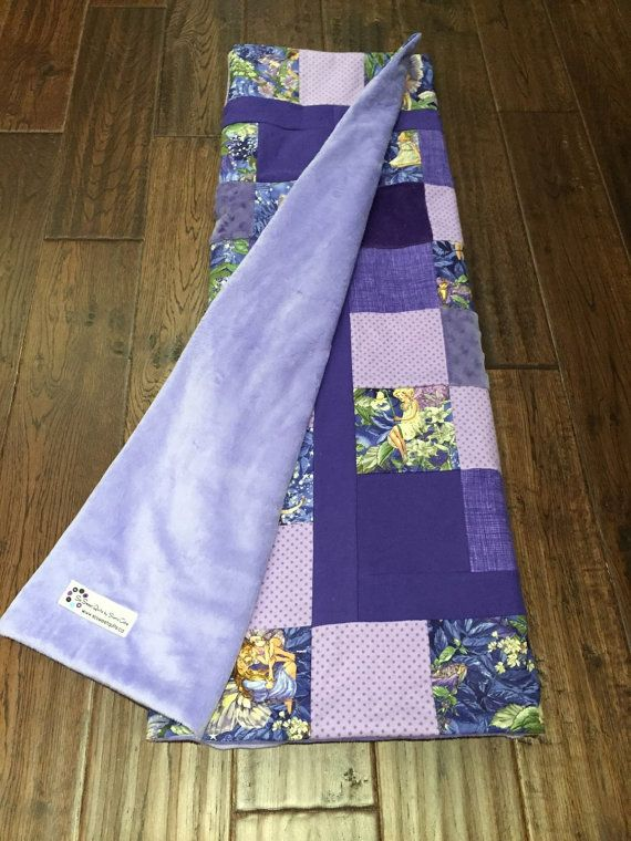 Fuzzy Blocks Baby or Toddler Quilt  Purple by sosweetquilts