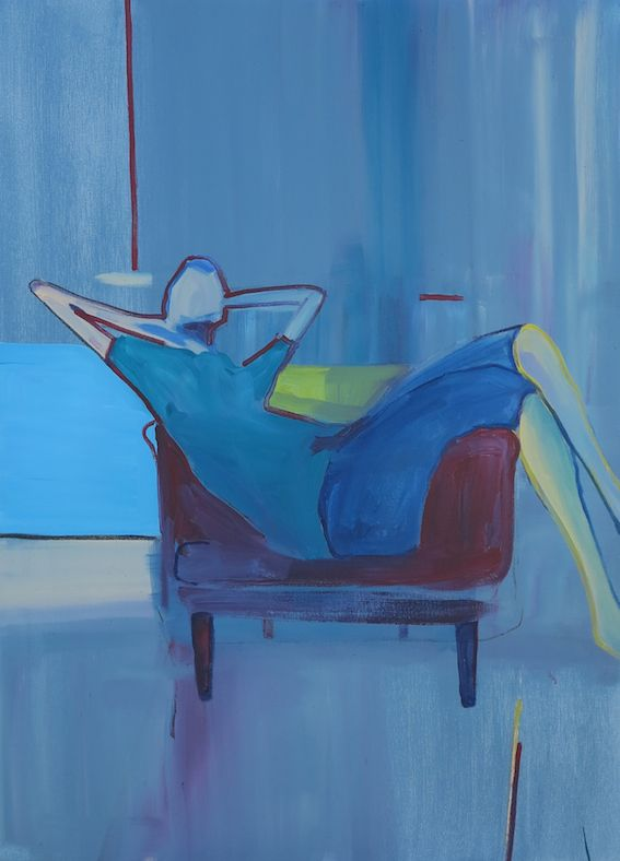 Recumbent - 2015 ( Commission ) Acrylic on stretched canvas 1100 x 800 SOLD