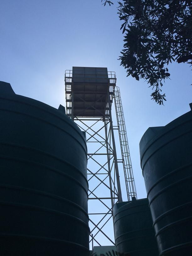 Water tanks at SME water supply company on outskirts of Maputo (1)