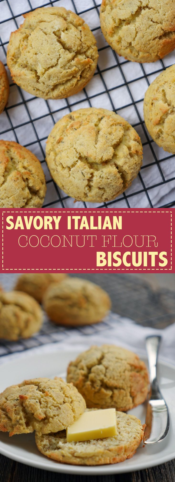 Savory Italian Coconut Flour Biscuits (paleo and nut-free) by Ashley of MyHeartBeets.com