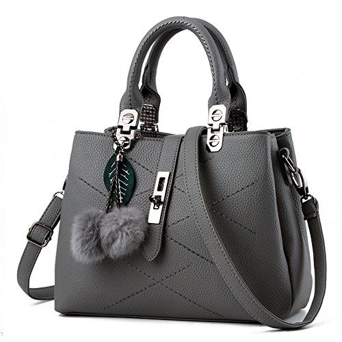 Phashionique (USA) - Online Shopping eXperts: Shoes: Women Handbag,Women Bag, KINGH Zip Closure Tote Vintage Shoulder Bag PU Leather 116 Gray