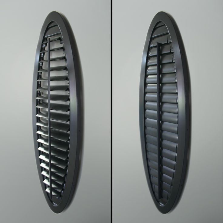 Oval #plantation shutter that opens and closes. Openshutters.com.au can make any shape work.