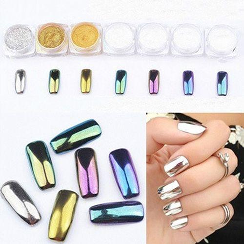 11.11 ! 1g Mirror Nail Glitter Powder Dust Nail Art DIY Decor Shinning Pigment Glitters In Stock Fast Shipping