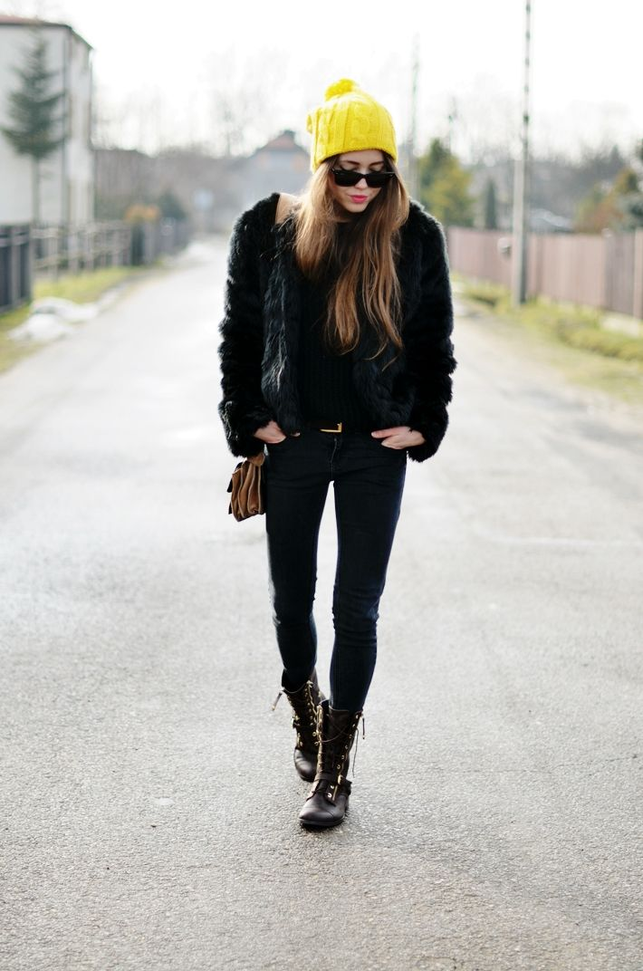 Second-hand jacket   Second-hand jeans   Hauer hat   LOVE Moschino shoes