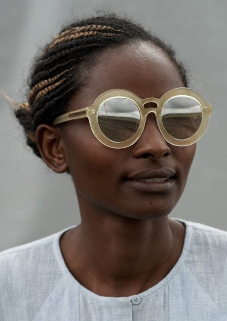 """Karen Walker's """"Visible"""" Campaign: Winnifred Wangare - Supervisor. This season Karen Walker is working with the United Nations' ITC Ethical Fashion Initiative to create work in community groups of micro-artisans located in urban slums and disadvantaged rural areas of Kenya."""
