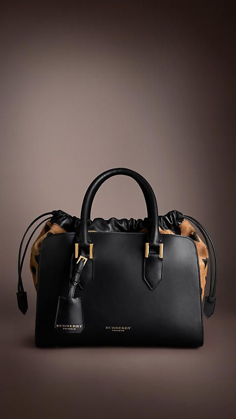 Heart Print Calfskin Bag | Burberry