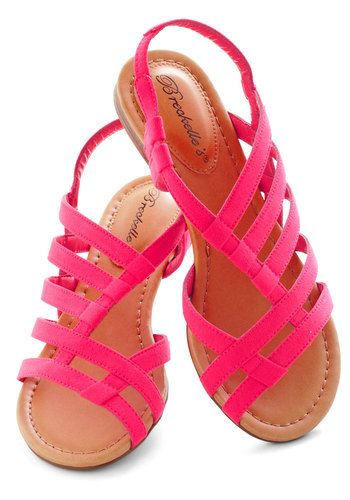 I like these!!! White Sand Shores Sandal in Pink
