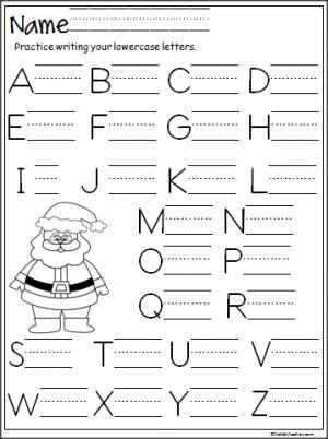 santa capital letter writing practice for teachers pinterest writing practice worksheets. Black Bedroom Furniture Sets. Home Design Ideas