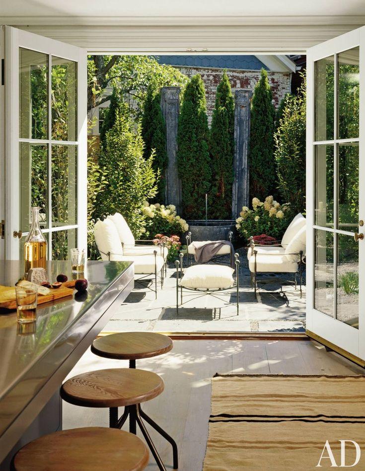 kitchen to open patio doors