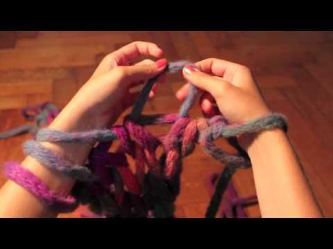 Found this video to be the best for a good view. Arm knitting made easy!
