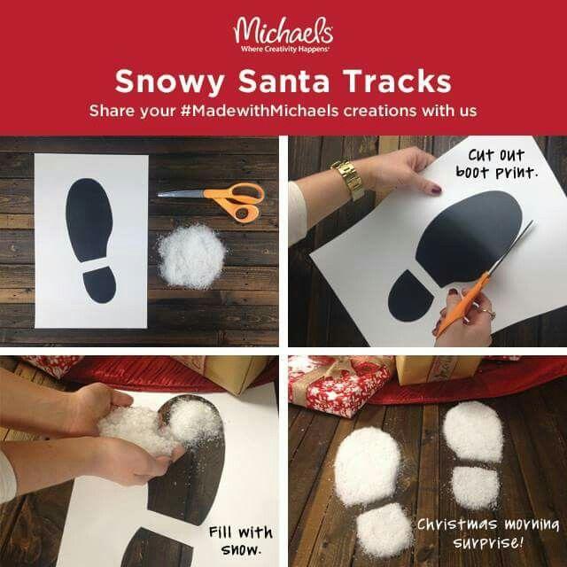 Snowy Santa Boot Print Tracks.. So magical!!!!