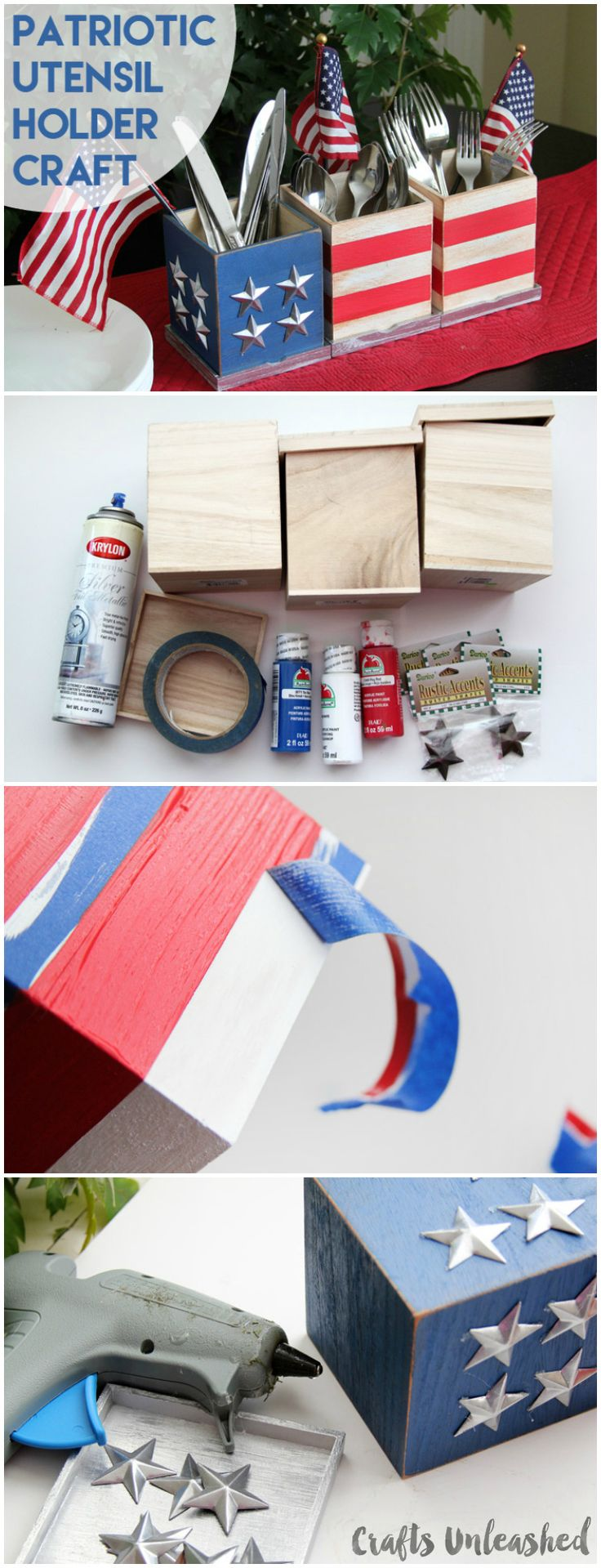 Patriotic Craft Utensil Holders