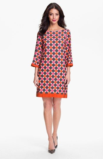 Great geometric pattern for Ruth    Eliza J Print Jersey Shift Dress available at #Nordstrom