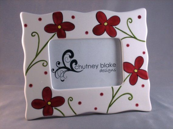Ruby Flowers Frame by chutneyblakedesigns on Etsy, $29.50