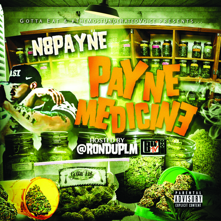 "Nate Payne is back at it with his new mixtape ""Payne Medicine"" Hosted By @RonDuPLM a.k.a"