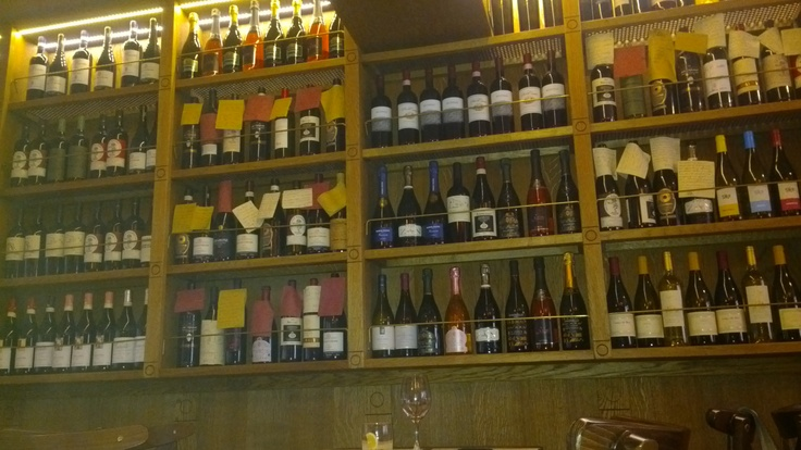 """""""Amarone""""- bacaro in Calle de Lunagher, San Polo  The Amarone bacaro wine selection: say what you want!"""