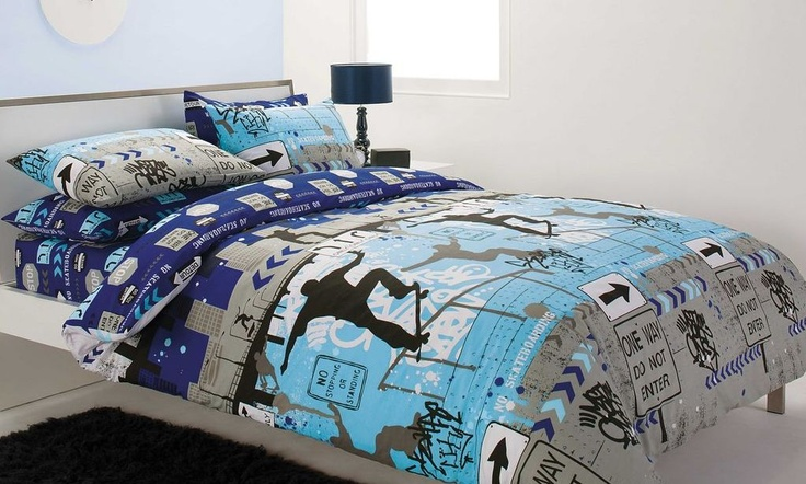 City Skater Bed Linen by Junior Bedmates from Harvey Norman New Zealand