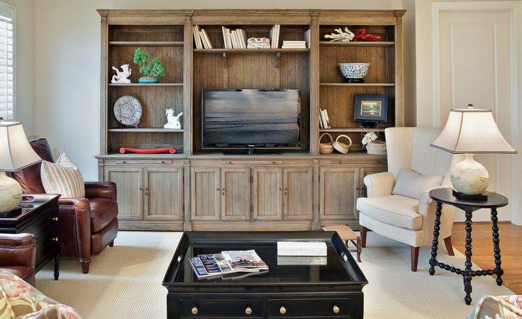 Reclaimed Wood Entertainment Center Living Room