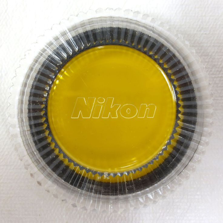 Vintage Nikon 52mm Camera Filter Y52 Yellow Perfect Glass with Original Case