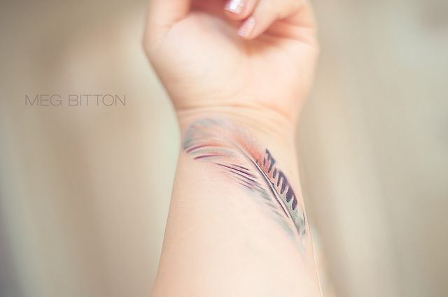 Breathtaking tattoo of Watetcolor inspired tattoo I would put it on my foot