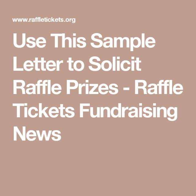 use this sample letter to solicit raffle prizes