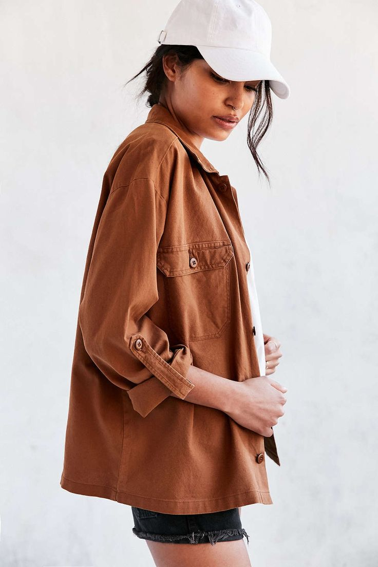 BDG Muddy Canvas Shirt Jacket - Urban Outfitters