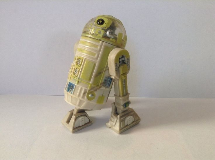 2001 Rare Star Wars Green R2 Unit Action Figure Clear Head Droid #Hasbro