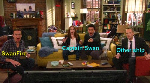 During Captain Swan kiss << no no no captain swan is way too calm it involves teara and rolling on the floor fangirling