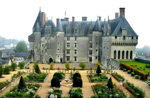 The Château de Langeais is a medieval castle, rebuilt as a château, in Indre-et-Loire, France, built on a promontory created by the small valley of the Roumer River at the opening to the Loire Valley.