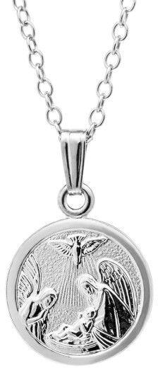 Infant Girl's Mignonette Sterling Silver Guardian Angel Pendant Necklace