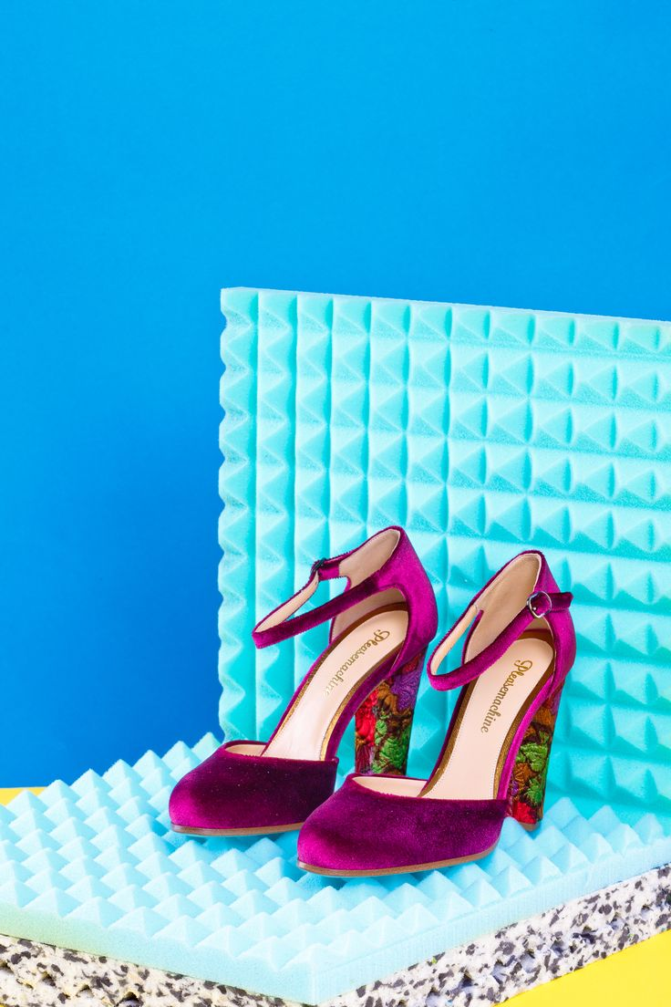 Purple Velvet high heels