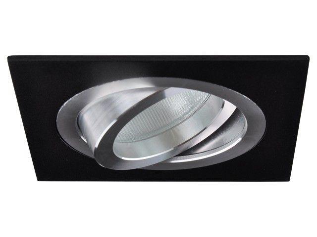 Set: Einbauspot Torino schwarz, viereckig, schwenkbar + GU10 LED Spot Sirius SMD 4W dimmbar