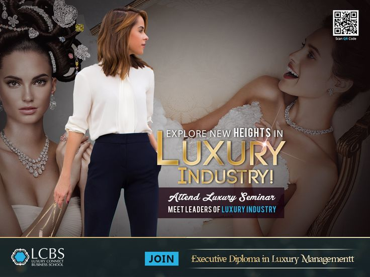 Explore new heights in Luxury Industry! Attend Luxury seminars, meet leaders of luxury industry. Join Executive Diploma in Luxury Management from LCBS. Visit: http://bit.ly/2njr7L9  #LuxuryEducation #LuxuryBrandManagement #Education ‪#BSchool #Diploma #College #University #PostGraduate #Luxury