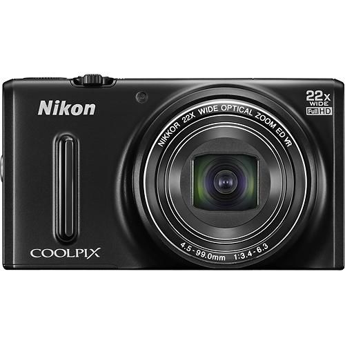 Nikon - Refurbished Coolpix S9600 16.0-Megapixel Digital Camera - Black $99