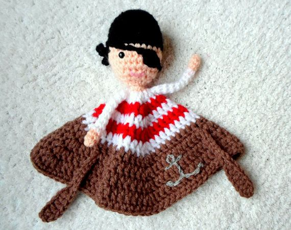 Pirate Lovey crochet amigurumi pdf pattern by AlaSascha on ...