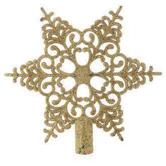 Punta del Árbol de Navidad nieve dorado [PR001660] - €3.99 : HolyartEl primer comercio electrónico de artículos religiosos