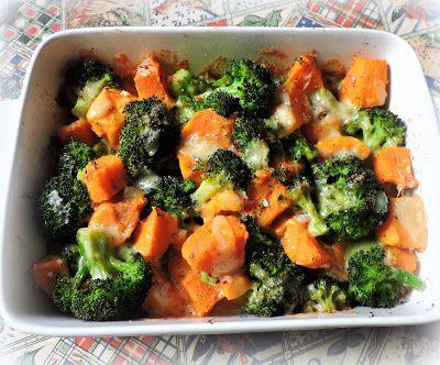 The English Kitchen: Sweet Potato, Broccoli & Cheese Bake
