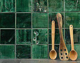 Dekorácie - Keramické obkladačky listové - 8788287_