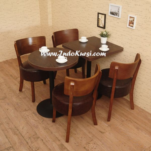 JualSet Kursi Cafe Resto Desain Bundar desain Produk Kursi Resto Makan dengan Bahan Kayu Jati Perhutani yang dapat anda menikmati dengan nyaman desain Lain Kursi Cafe Jati Lengkung