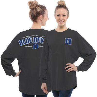 Duke Blue Devils Women's Charcoal 2015 NCAA Men's Basketball National Champions Rally Long Sleeve Top