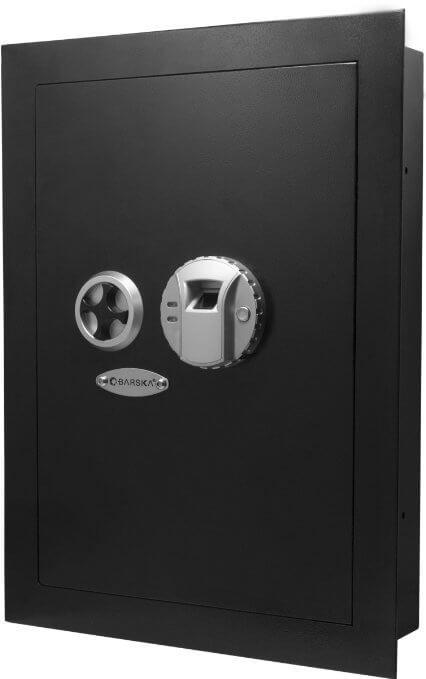 Wall Gun Safe : Barska Biometric Wall Safe