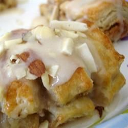Almond Bear Claws from Allrecipes.com.  Serve with a cup of hot coffee...YUM!  This recipe is so easy and quick.