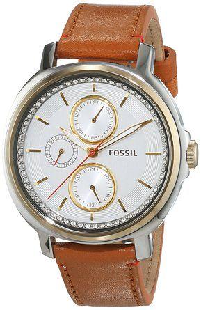 Fossil damen armbanduhr chelsey analog quarz leder es3523