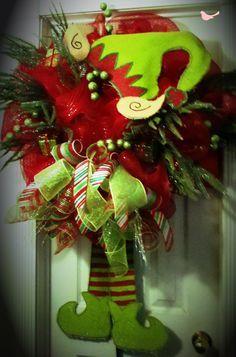 Burlap elf wreath!!