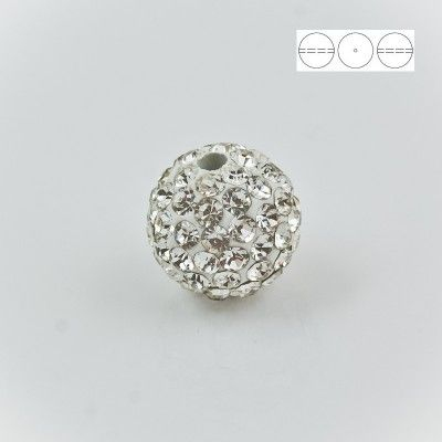 Discoball Bead 14mm Crystal  Dimensions: 14mm Stones which were used in a ball are from Preciosa Company  1 package = 1 piece