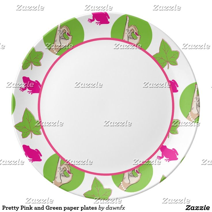 Pretty Perfect Pink and Green paper plates