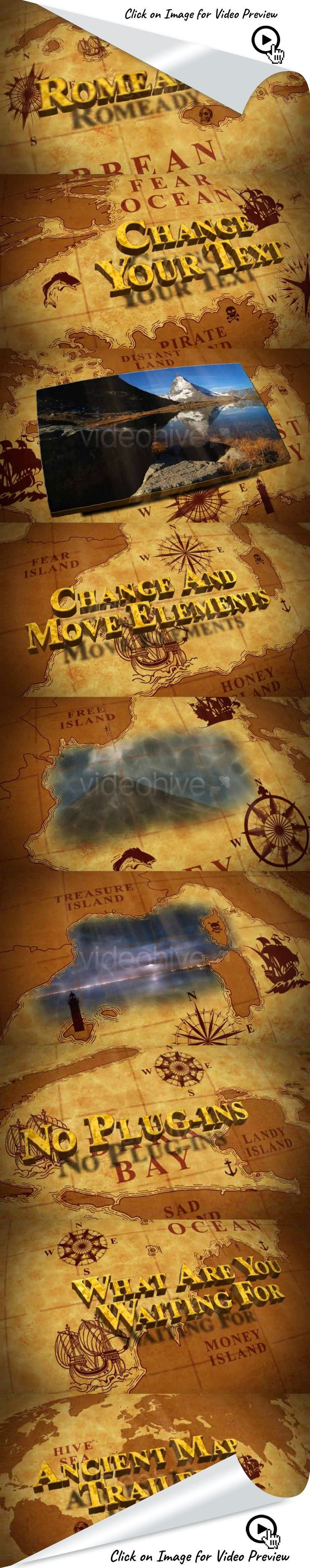 ancient, display, film, grunge, map, movie, old, photo, pirate, presentation, promo, texture, trailer, video, yellow, after effects templates, after effects ideas, after effects motion graphics, after effects projects, videohive projects This is great for a film trailer or presentation.   Main features:  Adobe After Effects CS5  and above HD resolution 1920×1080 4 different render resolution comps set for you (HD 1080, HD 720, PAL, NTSC) No plug-ins required 2:15 long (can be changed e...