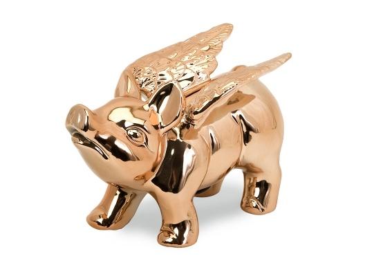 Adorable!! - When Pigs Fly Piggy Bank - Copper $20 via Open Sky